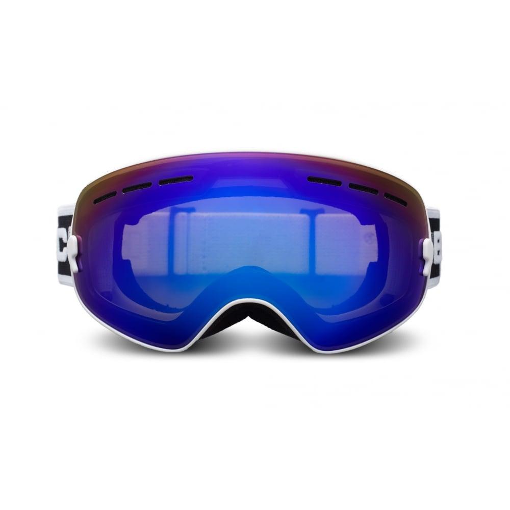 Bloc Junior Moon JMO8 Goggles | Matt White Brown Frame / Revo Blue ...