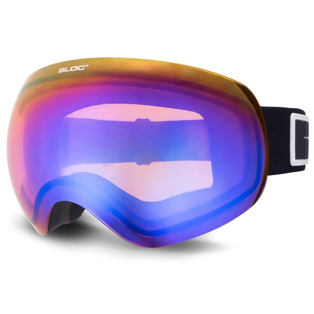 Bloc Moon 2 MN3 Goggles | Matt Black Orange Frame / Revo Blue Lenses ...