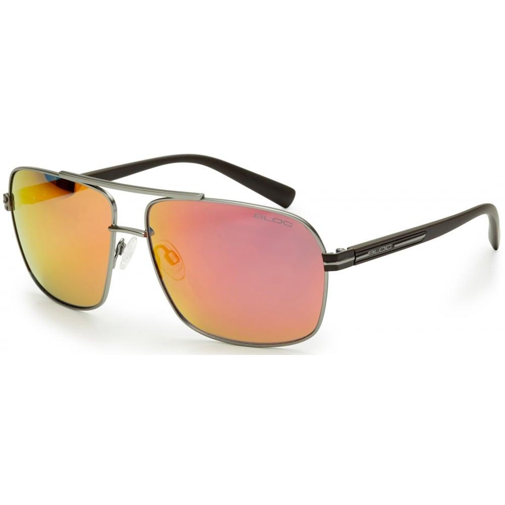 Bloc Pilot FR450 Aviator Sunglasses | Matt Gun Black Frame / Red ...