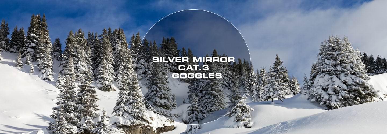 Silver mirror goggle